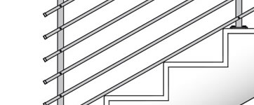 Railings for indoor and outdoor staircases and balustrades